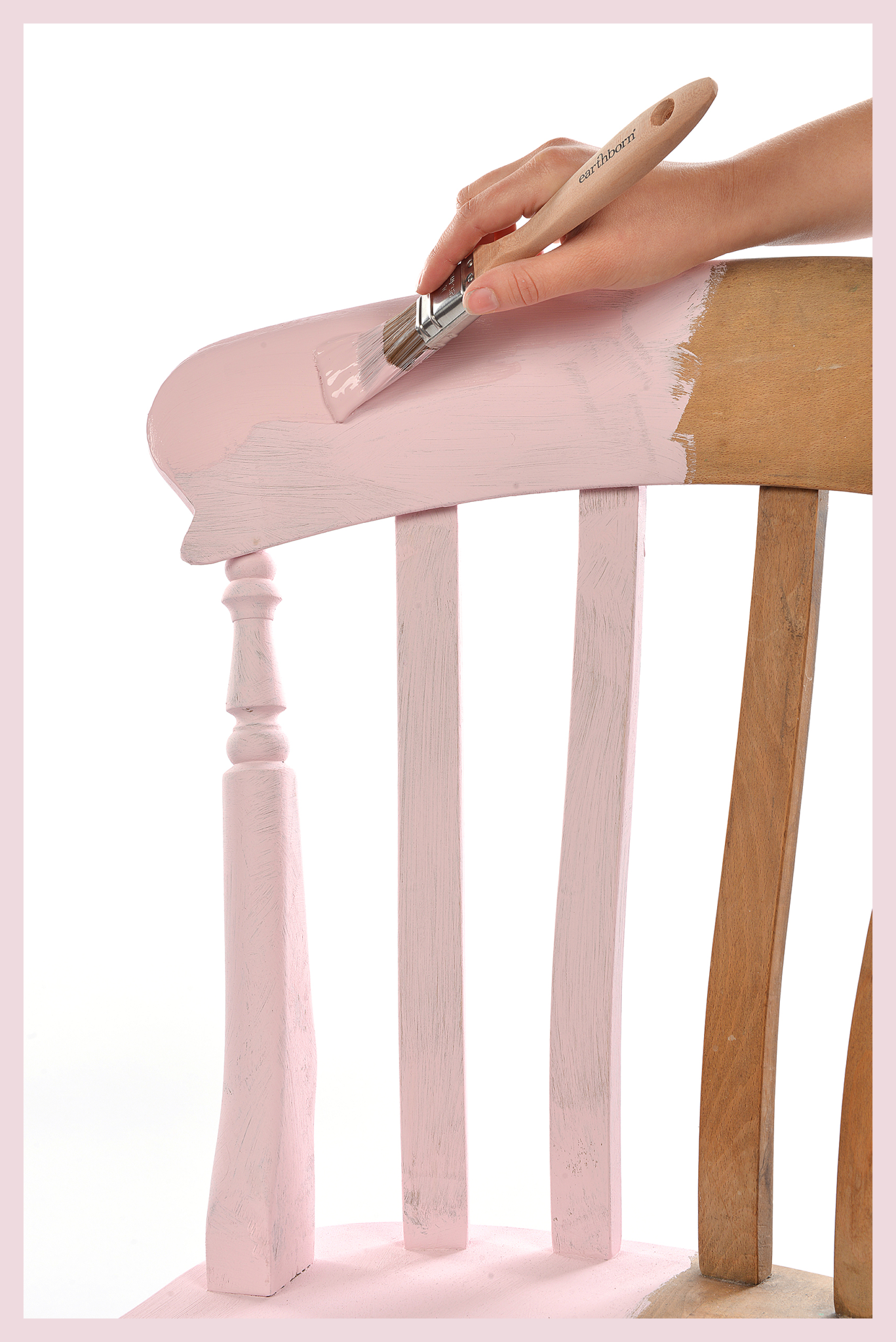 Painting a chair - applying Rosie Posie Eco Chic Claypaint with border