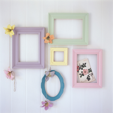 Collection of painted frames