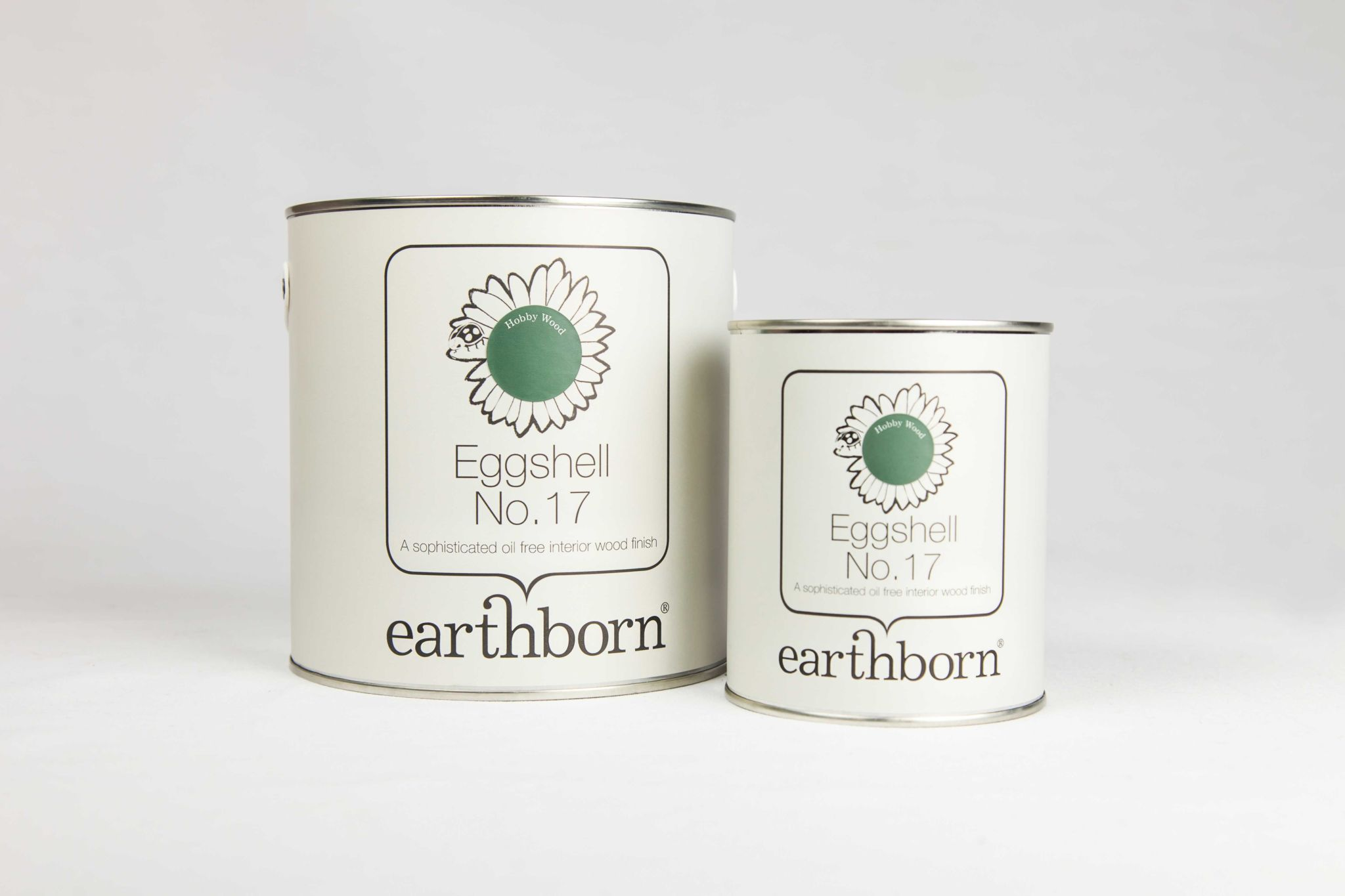 Earthborn Eggshell No. 17 is a hardwearing, baby-safe paint suitable for children's cots and toys