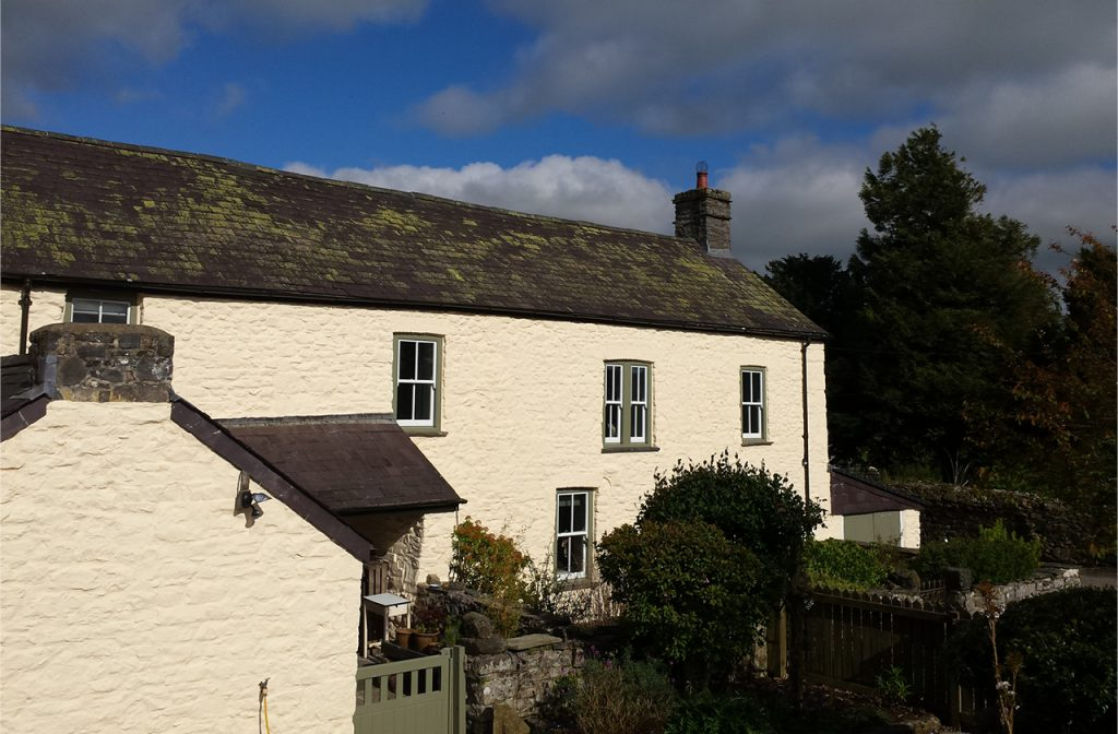 Our Silicate Masonry Paint in Honeycomb was used on this historic cottage