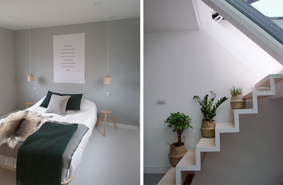 Joe Stuart's tiny London property featured on Grand Designs and uses eco friendly paint & building materials throughout