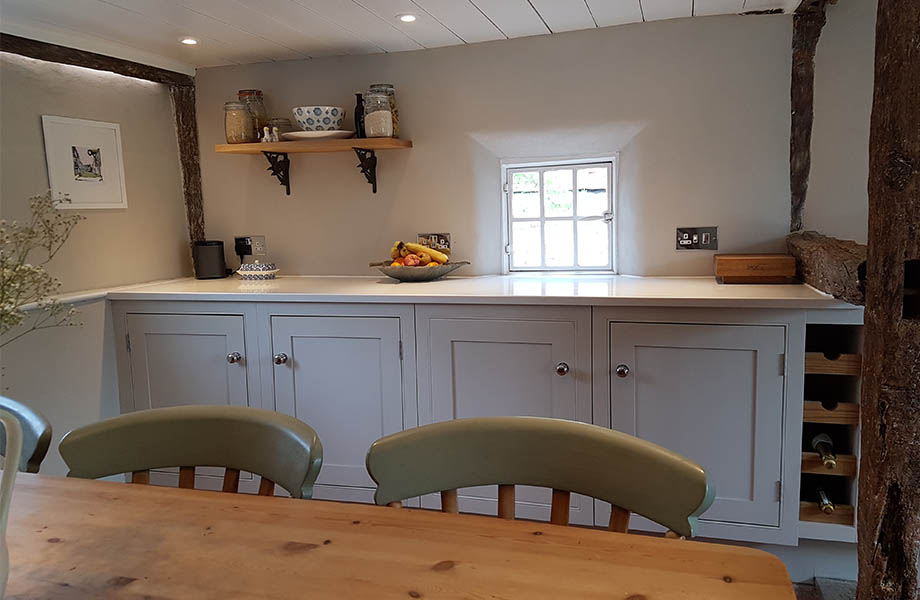 kitchen in listed cottage