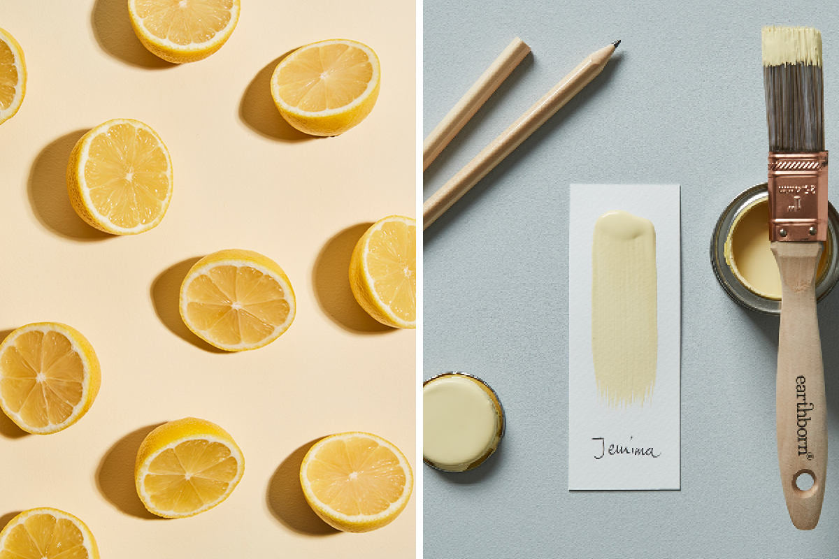 When life gives you lemons! Jemima is a fresh, pale yellow paint colour by Earthborn