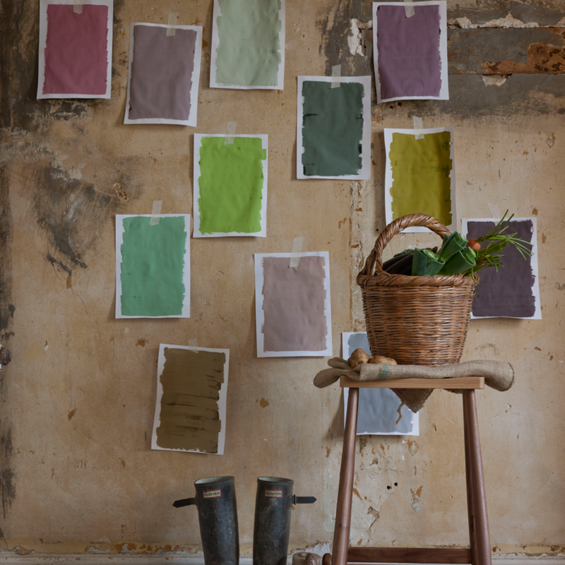 Test paint colours by painting large swatches onto card and place around your room. Eco friendly paint testers