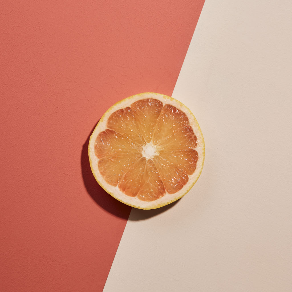 Earthborn bright zingy paint colour Fruit Salad is a pink grapefruit inspired eco friendly paint shade
