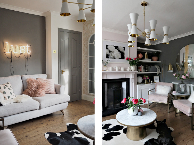 Earthborn grey paint colour Trilby as featured in Lust Living's room makeover for Revamp Restyle Reveal 2018