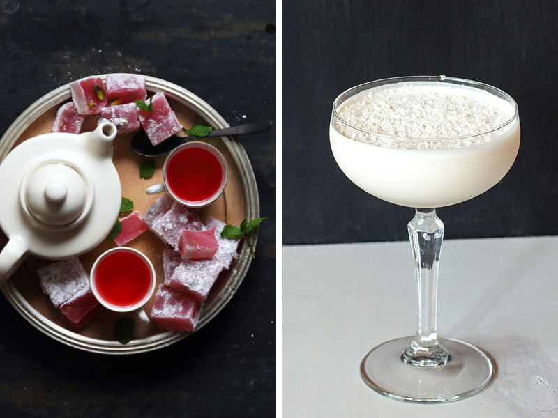 Earthborn festive recipes - Christmas cocktails and turkish delight