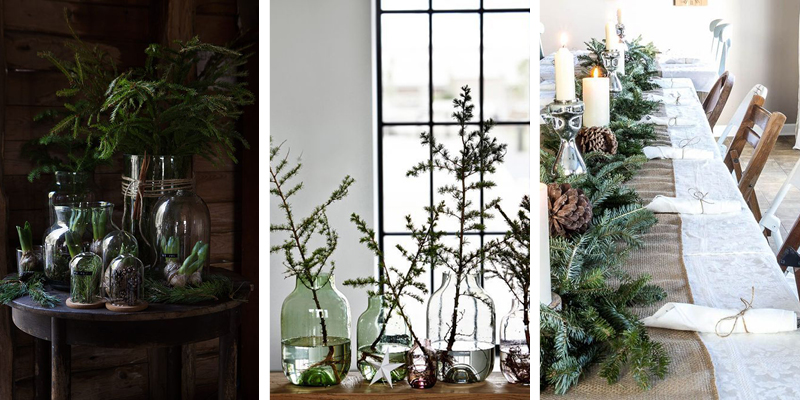 Festive foliage can be simple and very effective creating a Christmas feel for little effort!
