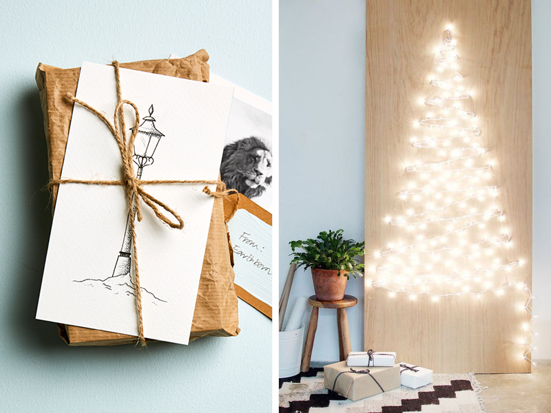 Five ways to decorate your home for Christmas including minimalist, simple festive decor