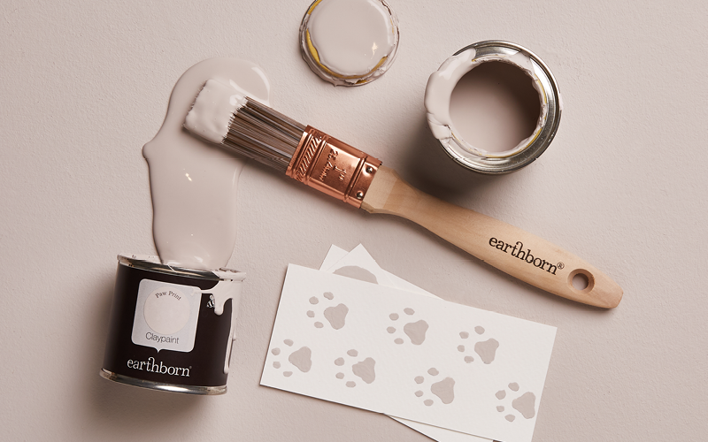 Earthborn Paw Print is a soft mushroom paint colour, the perfect neutral shade for any room