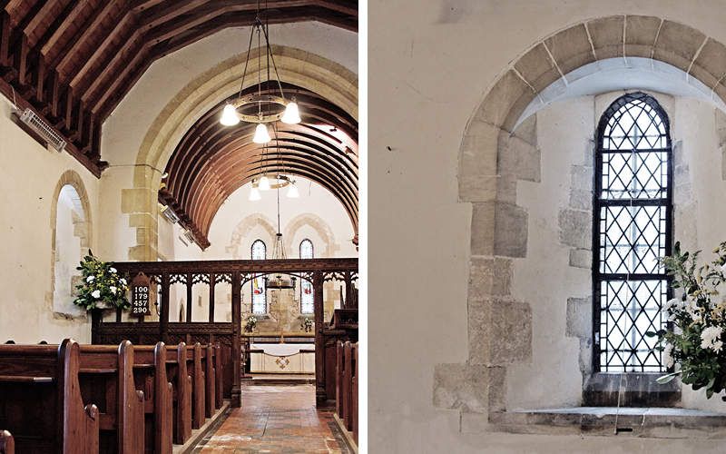 Earthborn Claypaint in Marbles was used as part of repair work at St James Church Halloughton