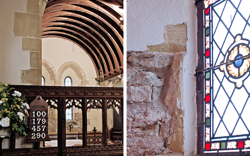 Earthborn case study featuring St James Church Halloughton using breathable Claypaint on lime plaster