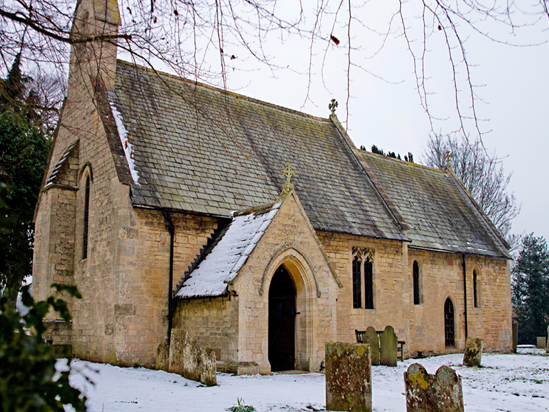 The picturesque St James Church in Halloughton recently underwent a programme of repair