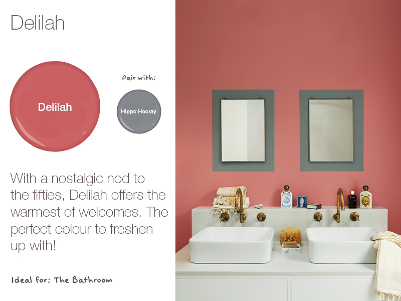 Earthborn Delilah is a brand new eco paint colour for 2019. A nostalgic pink.
