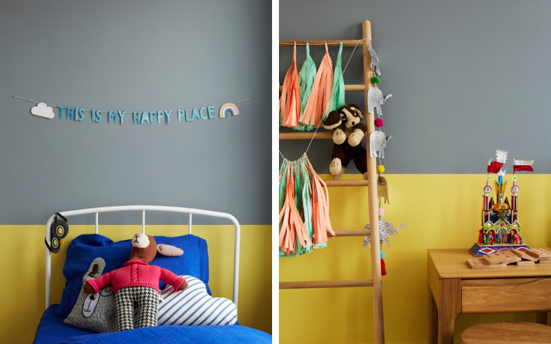 Daisy Chain and Hippo Hooray are the perfect match in this fun children's room