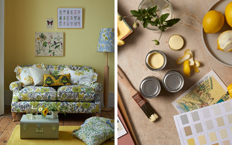 Create a sunny feeling all year with mid-yellow paint colour Jemima