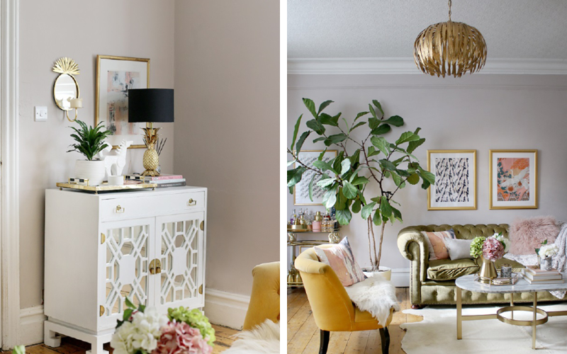 Kimberly from interior blog Swoonworthy used Earthborn Paint for her living room refresh