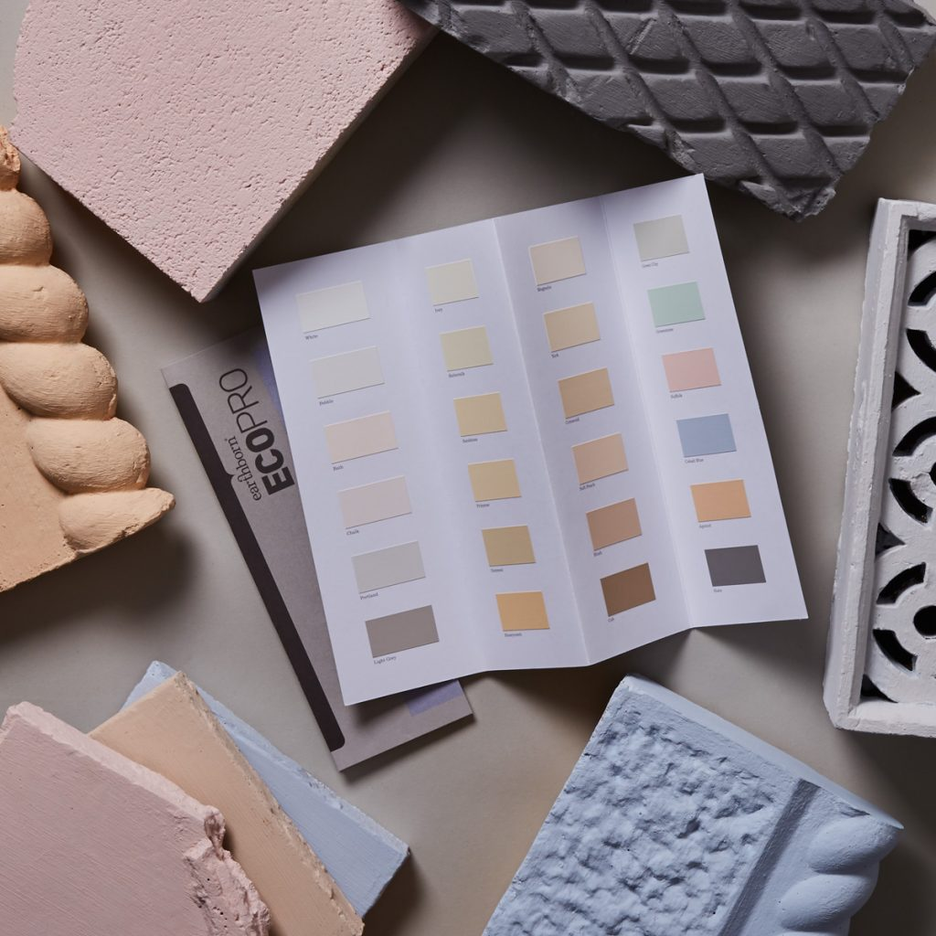 Earthborn's Ecopro Silicate Masonry Paint colour card is available in 24 beautiful exterior colours