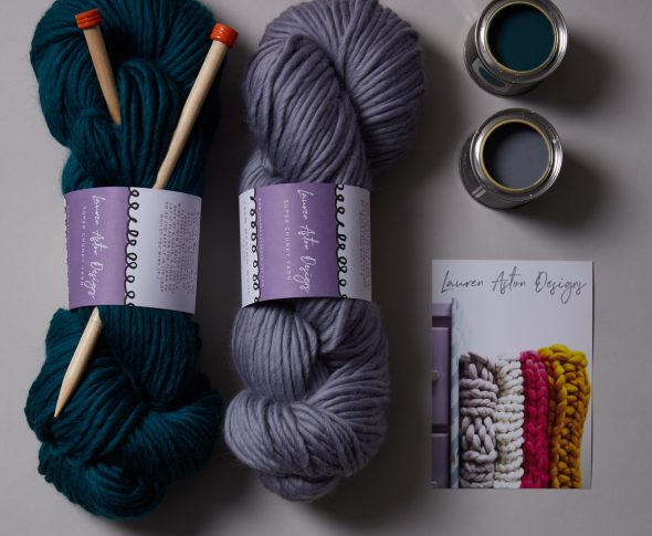 Competition! Win a giant knit kit with Earthborn paints and Lauren Aston Designs