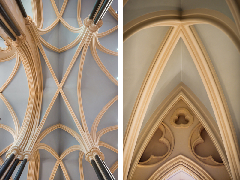 Bespoke Claypaint colours mixed for the conservation project at St Patrick's Cathedral, Dublin