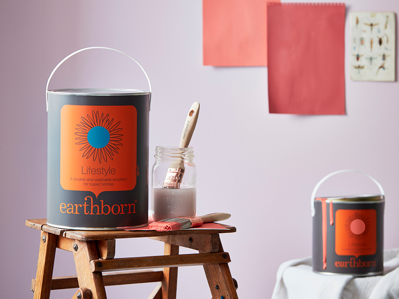 Earthborn Lifestyle paint is a durable, washable emulsion that's perfect for high traffic areas