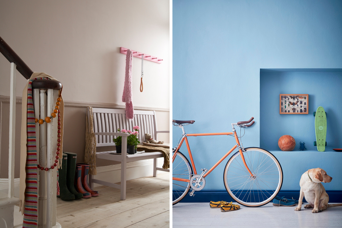 Hallway inspiration from Earthborn - featuring our hardwearing Lifestyle emulsion paint