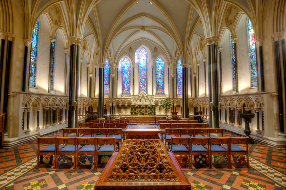 The refurbished Lady Chapel at St Patrick's Cathedral using Earthborn's breathable Claypaint