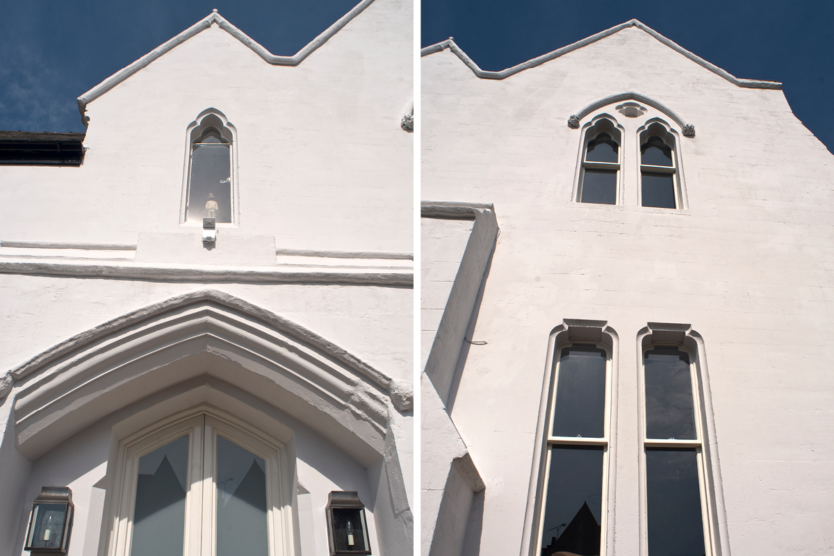 The West Lodge at Paddington Cemetery was painted in Earthborn silicate Masonry Paint