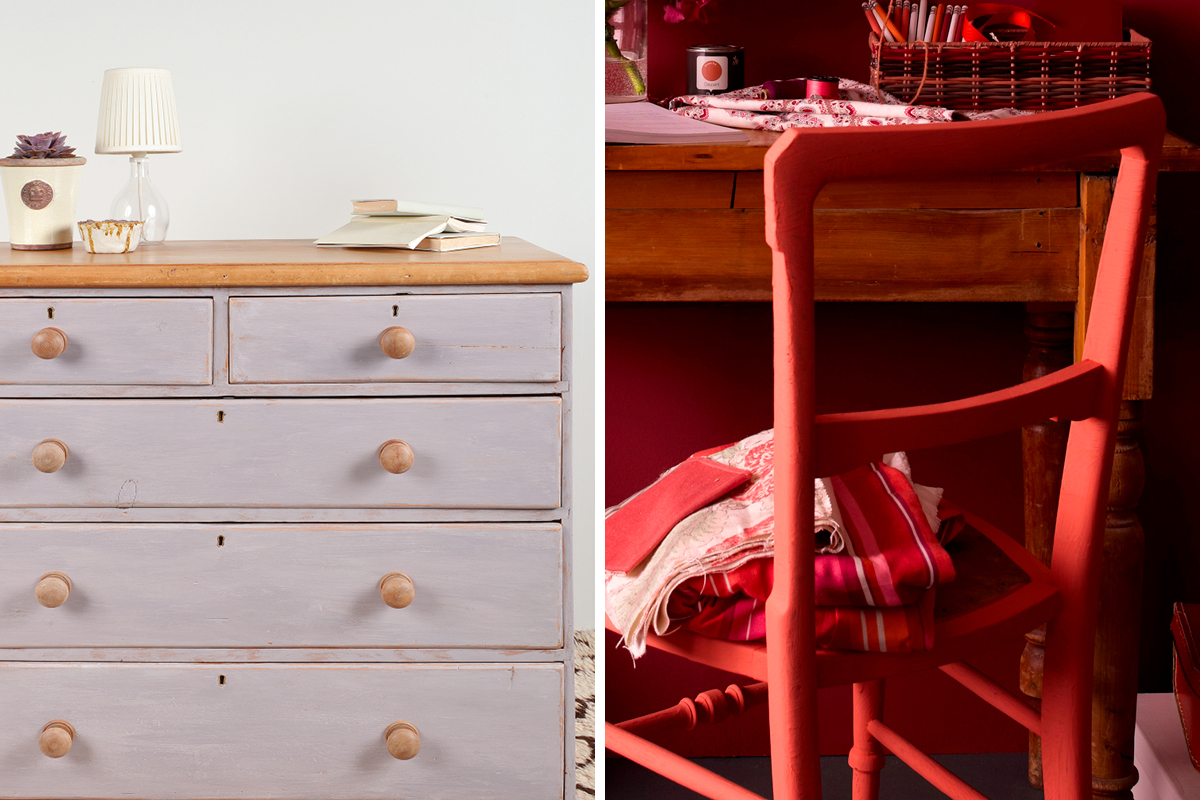 Earthborn Eco Chic is ideal for giving furniture a hand painted look