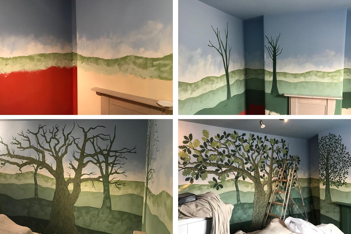 Claypaint mural by artist Caroline Rudge