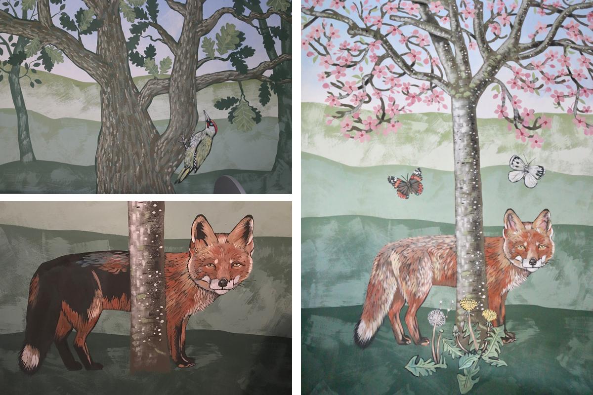 Caroline Rudge Claypaint mural