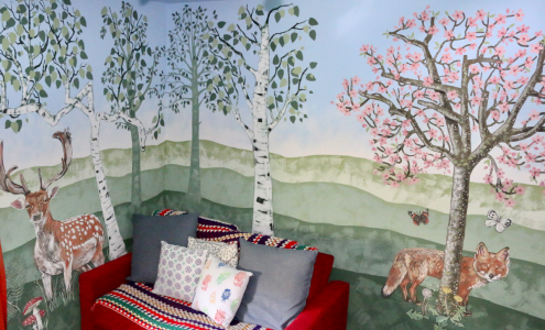 Mural by artist Caroline Rudge