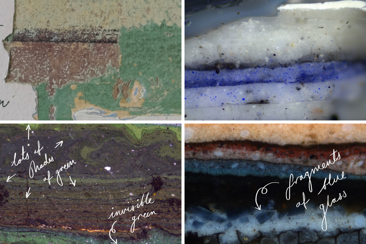 Paint analysis by Lincoln Conservation