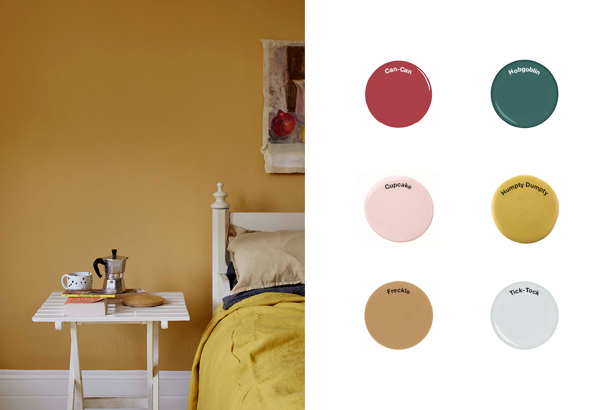 Victorian paint colours by Earthborn including Humpty Dumpty