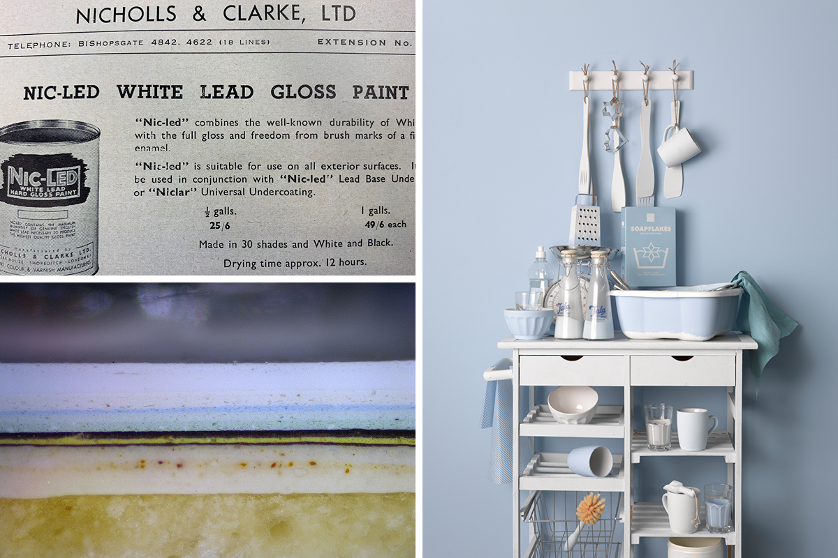 Edwardian paint colours and research by Lincoln Conservation