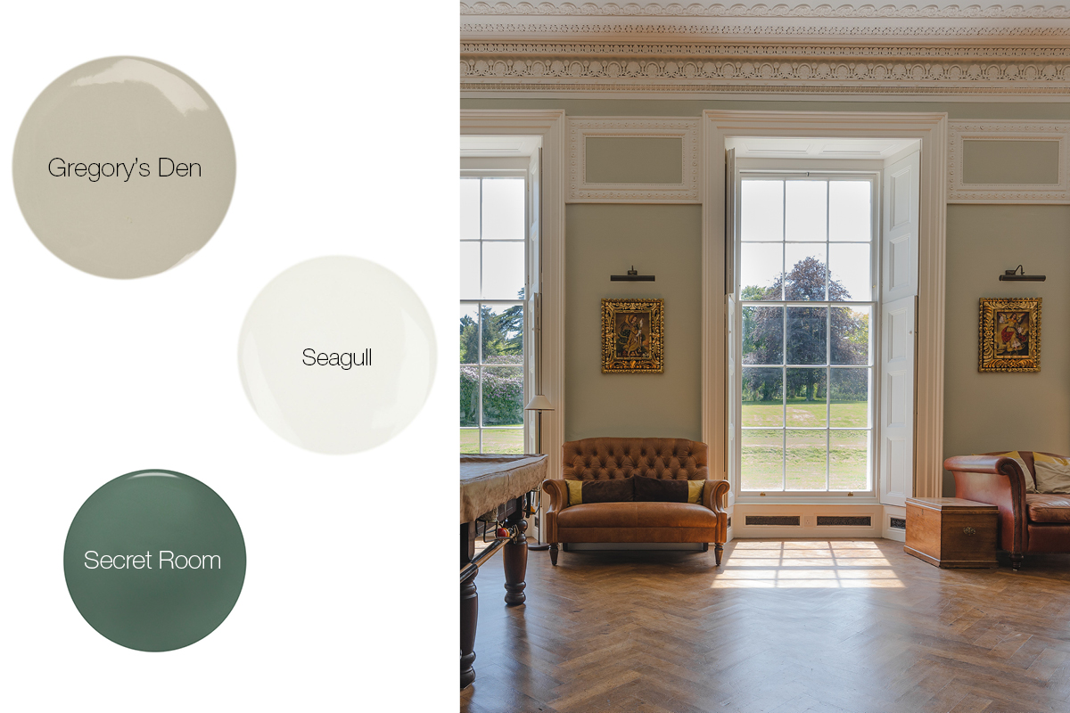 Earthborn's Georgian paint colours have been used in Grade II Listed Moreton House