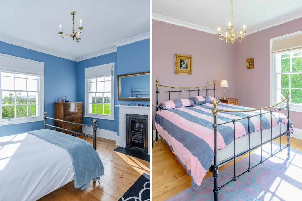 Bedrooms painted in 'Polka Dot' and 'Eiderdown'