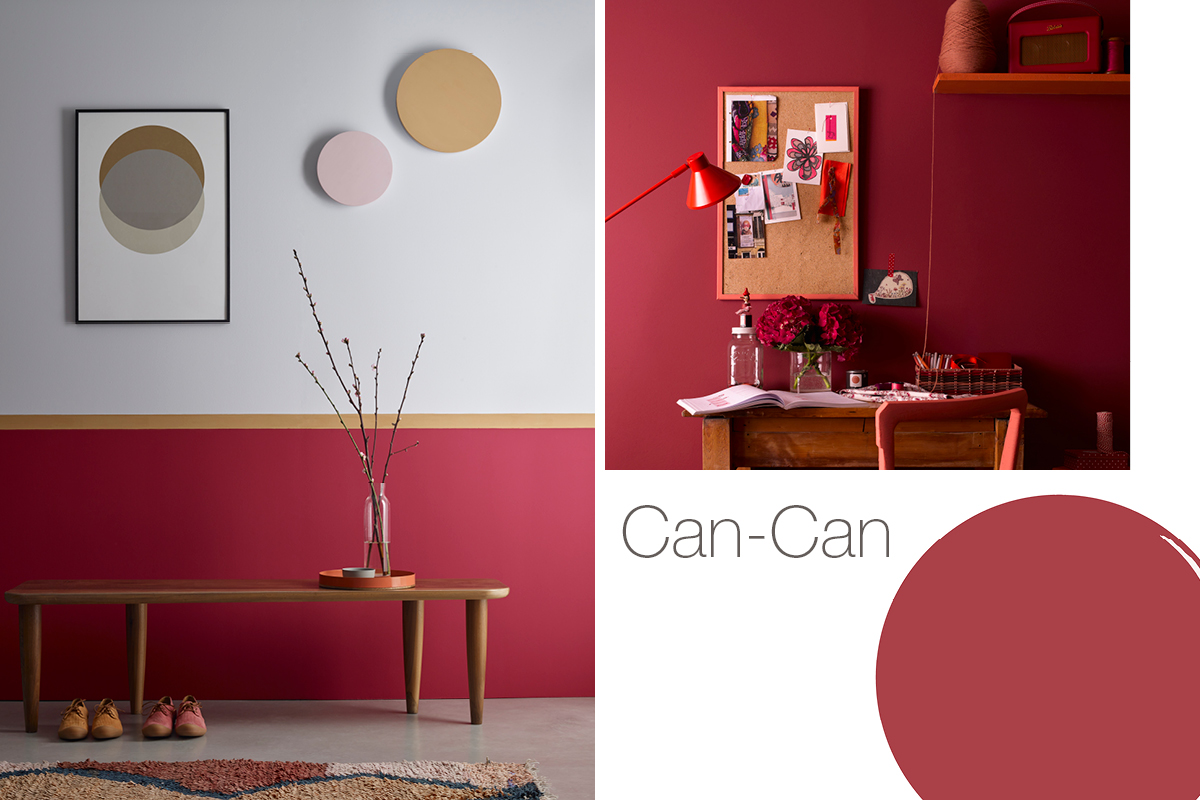 Can-Can is a warm pinky red that's set to be a popular colour in 2020