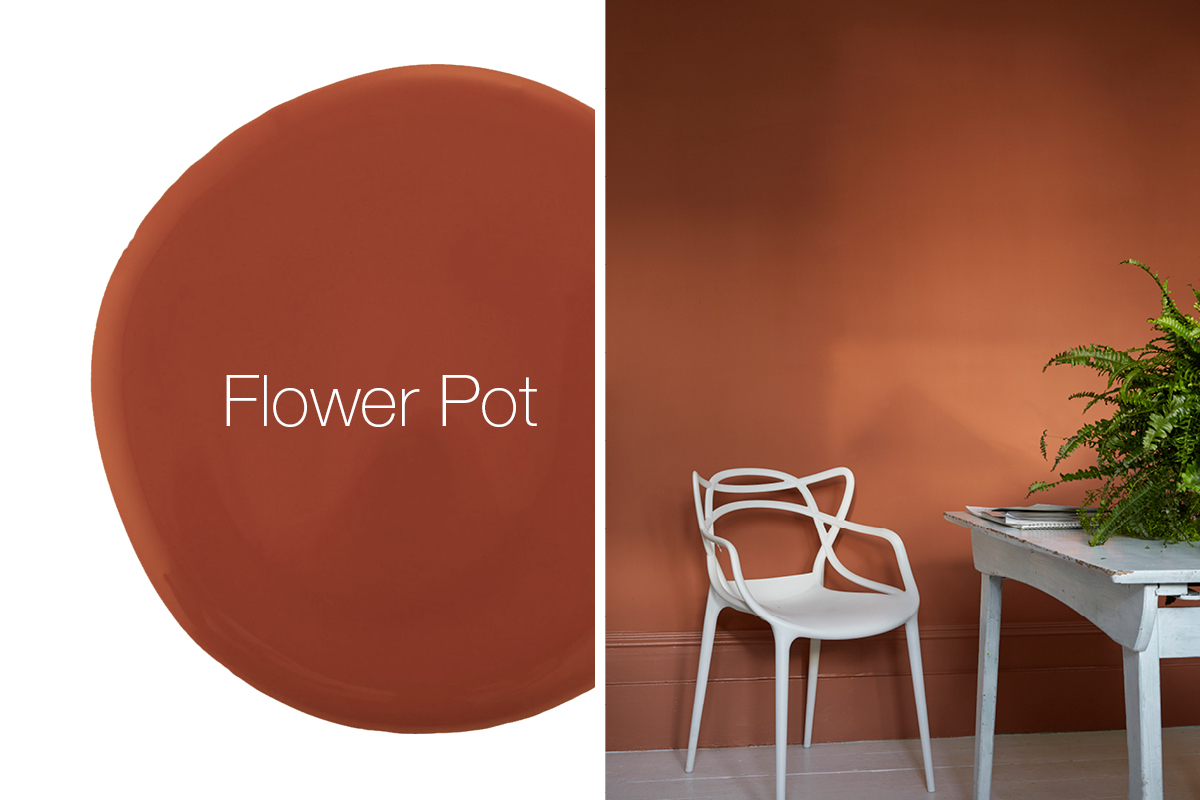 Earthborn 2019-2020 colour trends include Flower Pot