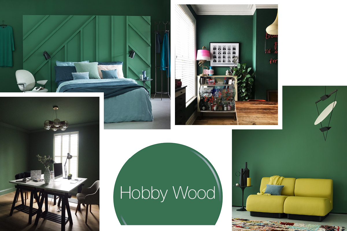 Earthborn's Hobby Wood is a deep woodland green that's a firm favourite with Instagrammers and bloggers!