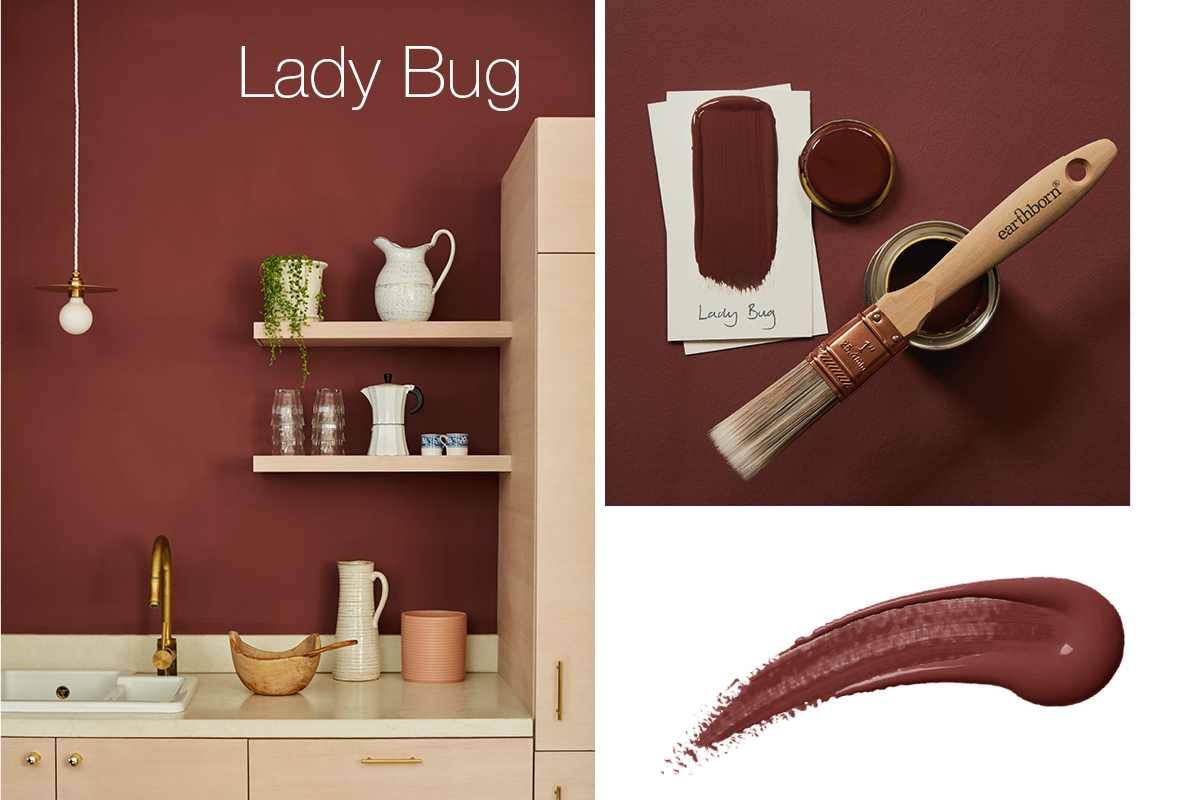 Earthborn's Lady Bug is a deep, rich reddish brown