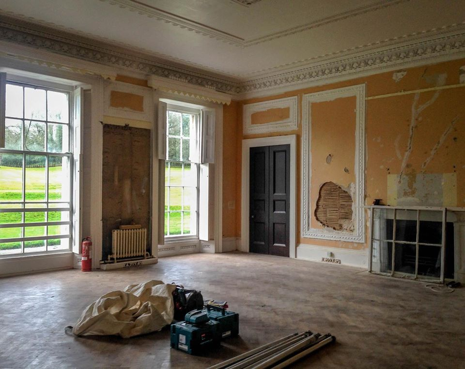 Before image of the Club Room at Moreton House Devon