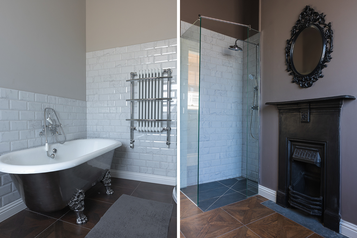Moreton House bathrooms painted in breathable Earthborn Claypaint