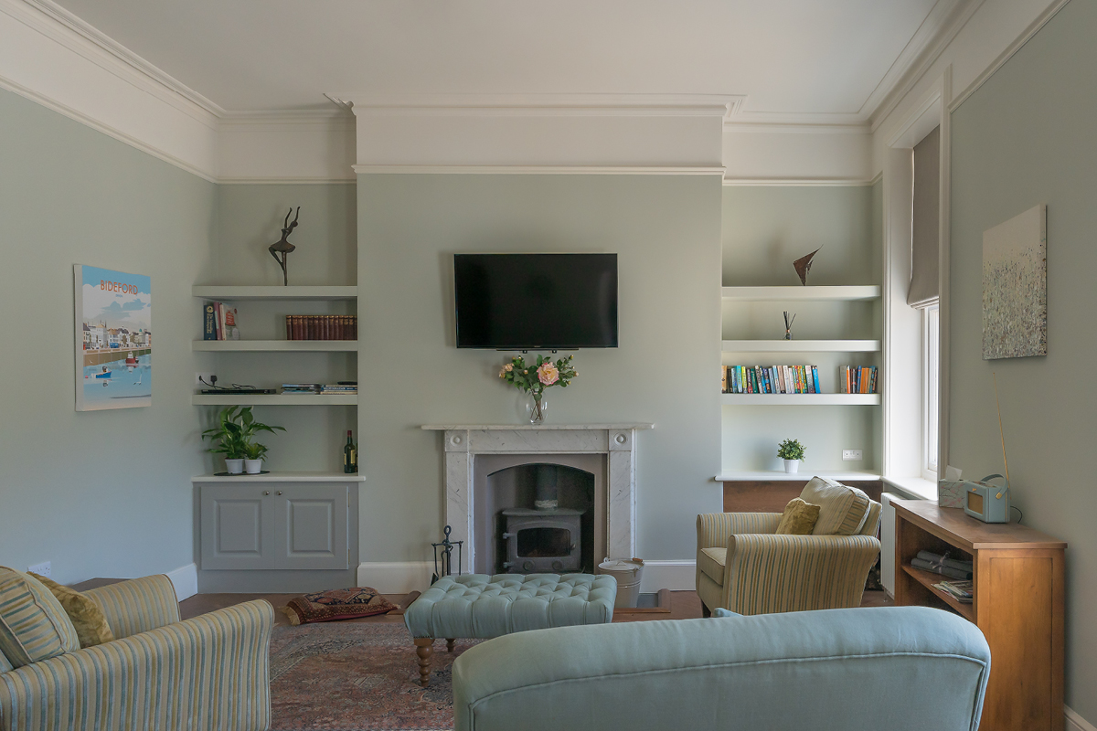 Moreton House Devon features Earthborn's Gregory's Den in one of the living rooms