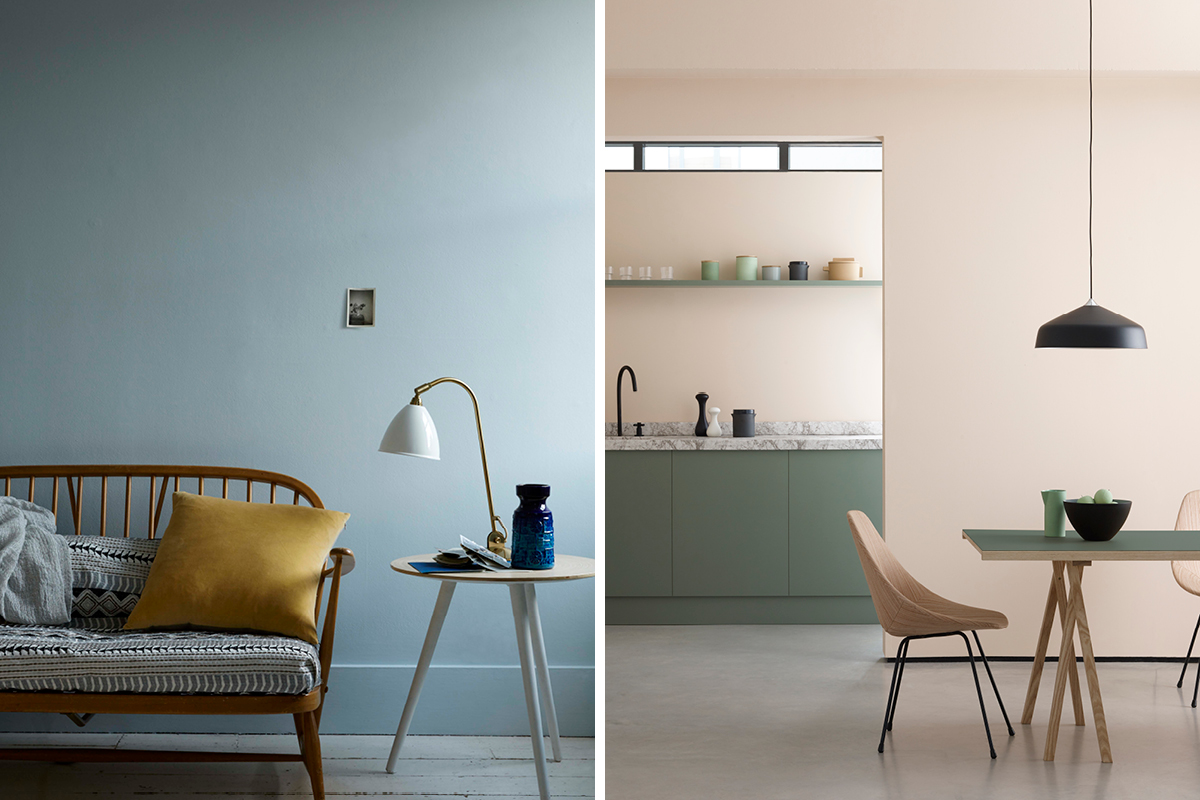 Earthborn Smidgen and Peach Baby are perfect colours in twentieth century homes