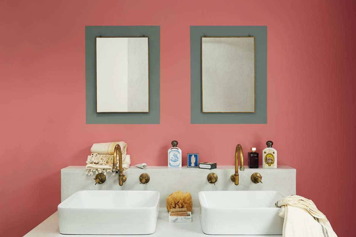 Earthborn paint colour Delilah is a true 1950s pink that's perfect for bathrooms