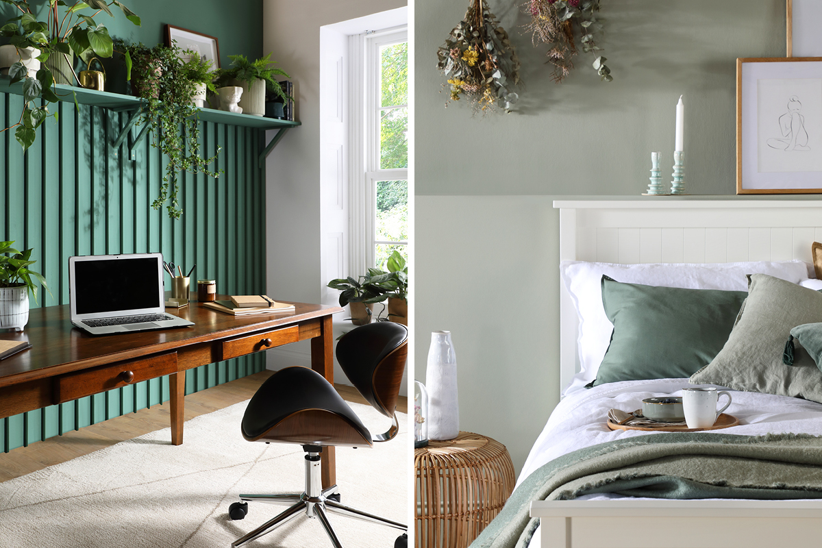Earthborn green paint colours used by Furniture Choice