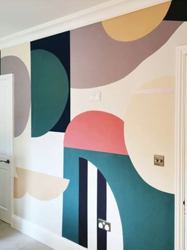 Bold Earthborn colours are used for this hand painted mural