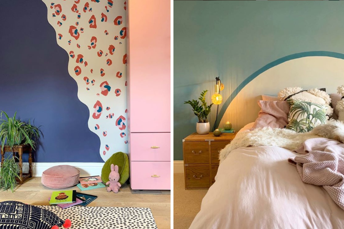 Naptime Style added personality to these rooms with our eco paint and a bit of imagination