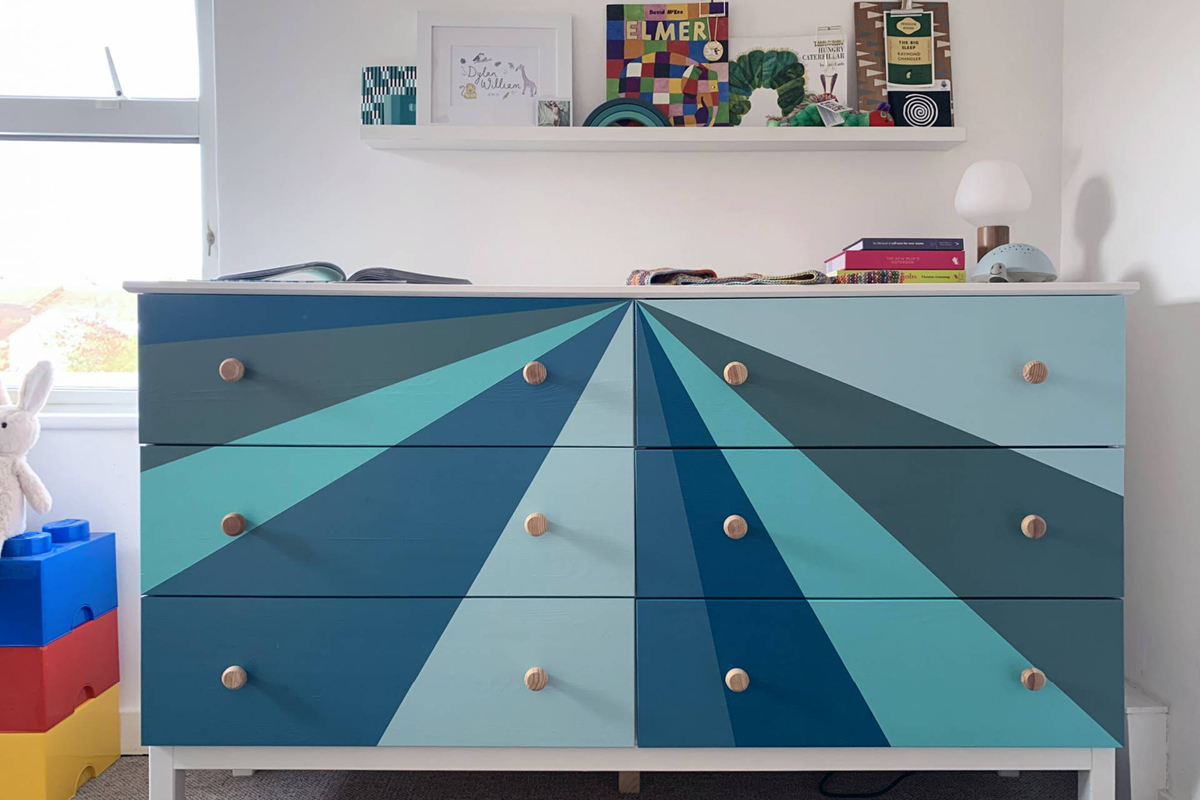 Natasha Nuttall used our hardwearing, child friendly Eggshell No.17 to paint her son's furniture